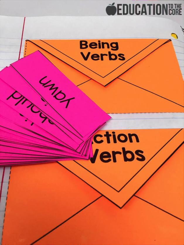 Interactive Grammar Notebooks: Verbs Interactive Notebook Activities