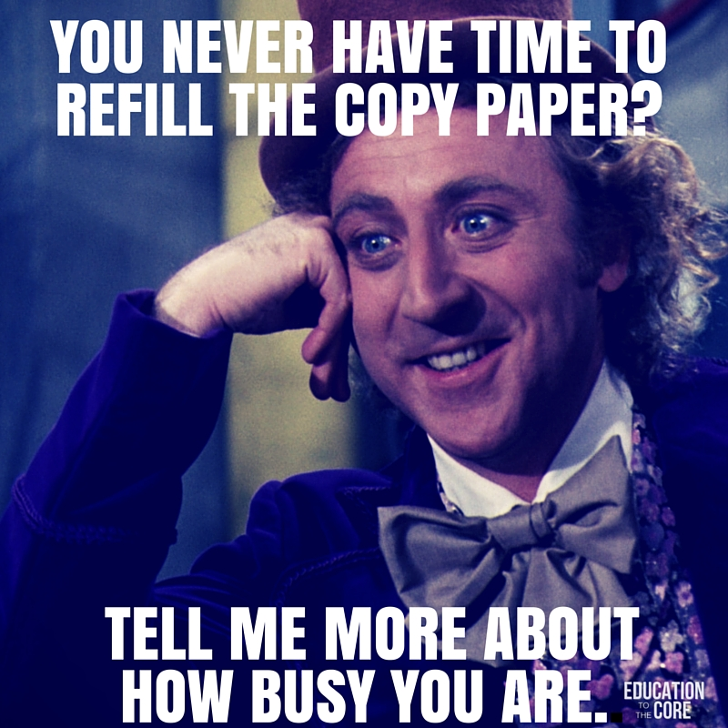 When it comes to the copy machine, there will always be replenishers, and takers.