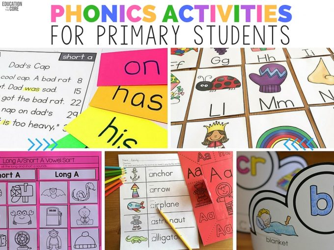 Phonics Activities for Primary Students