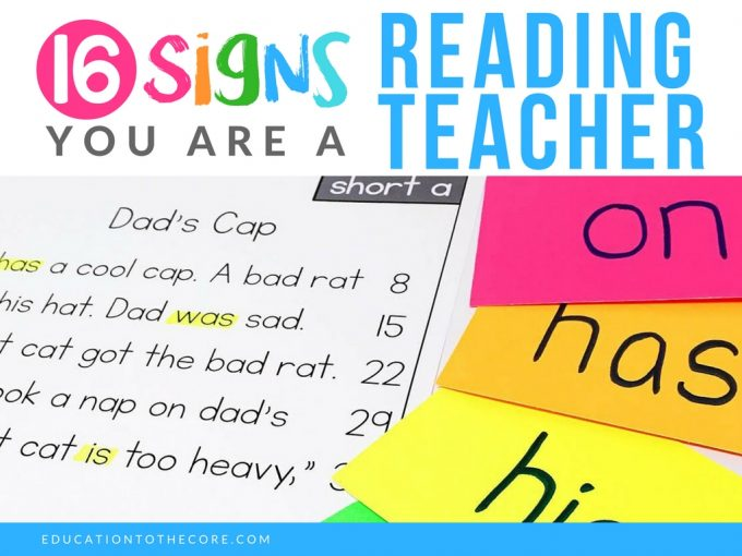 16 Signs you are a Reading Teacher