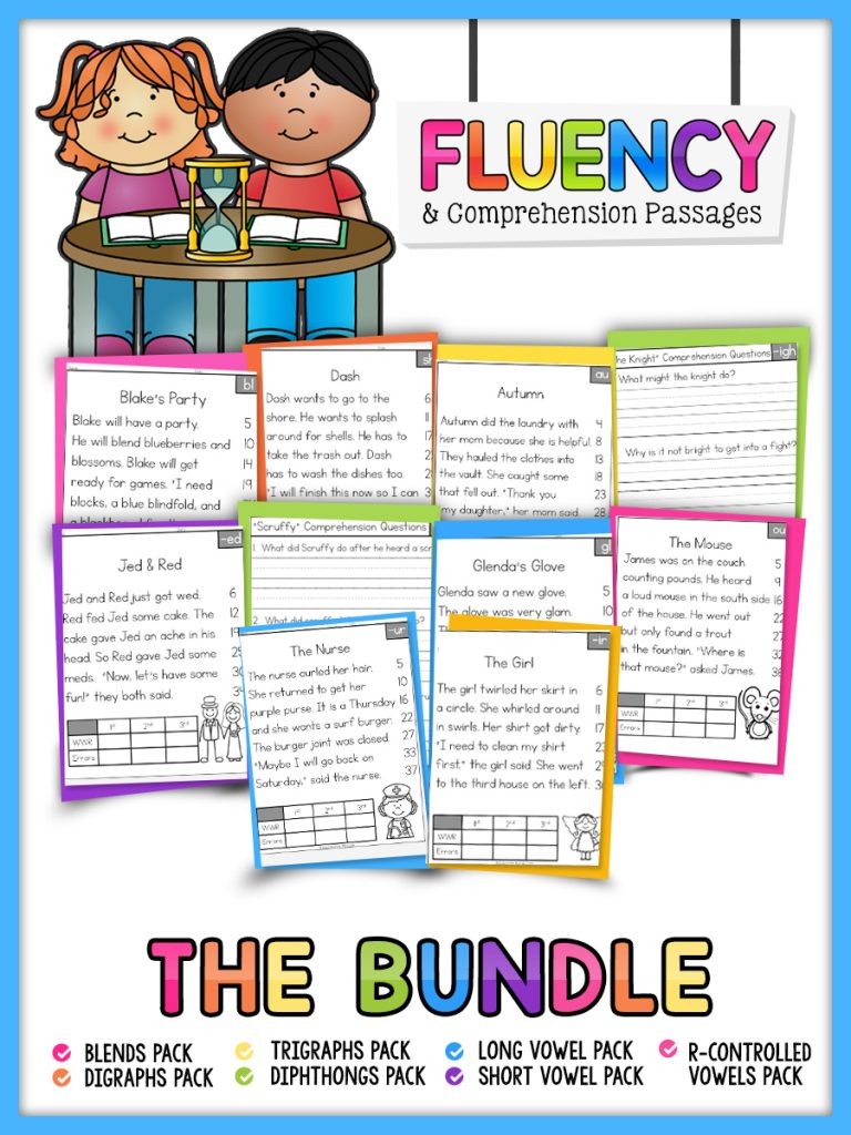 Fluency and Reading Comprehension Passages Bundle