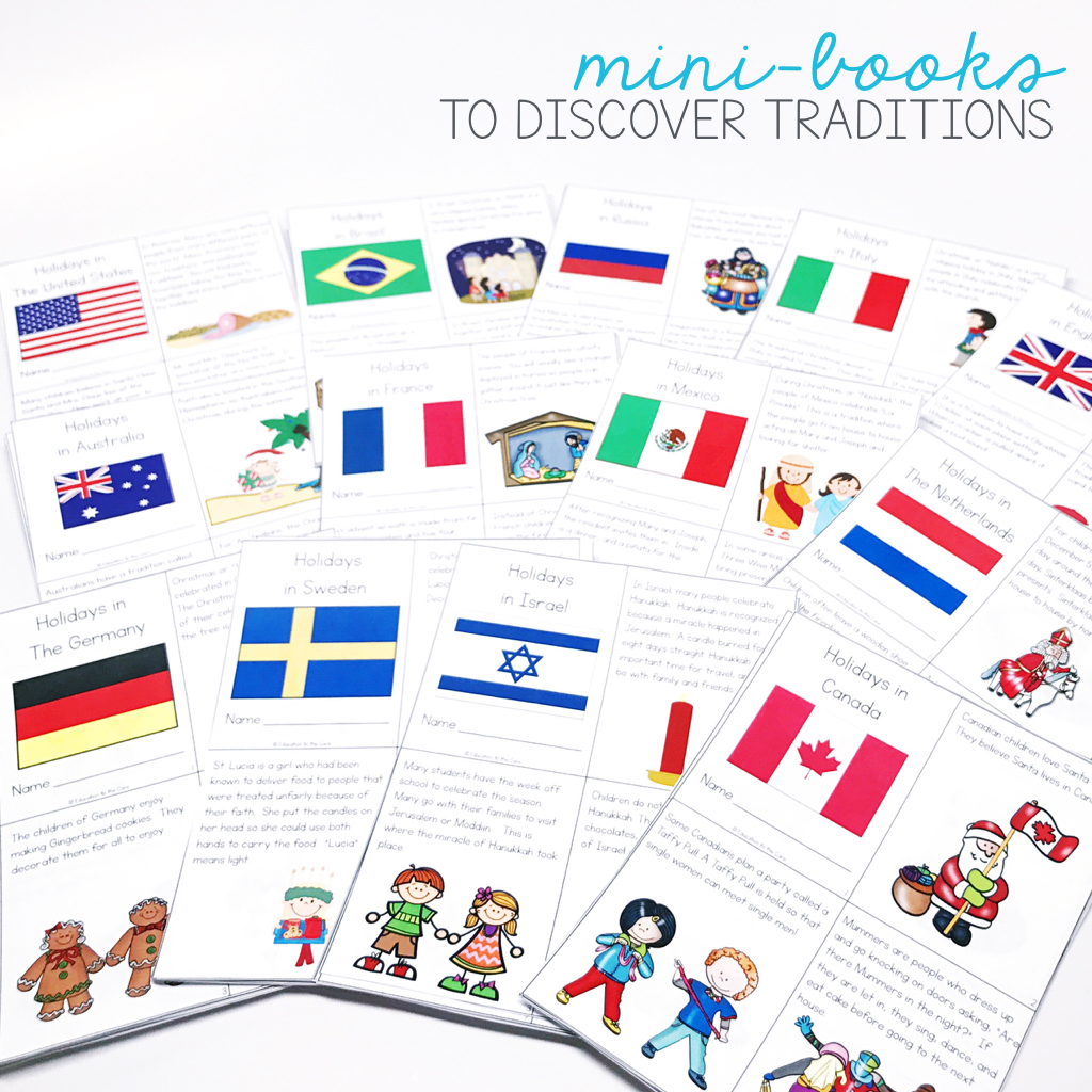 This Christmas around the World Unit has mini-books that are great for close reading. Many activities can be used to accompany crafts and centers.