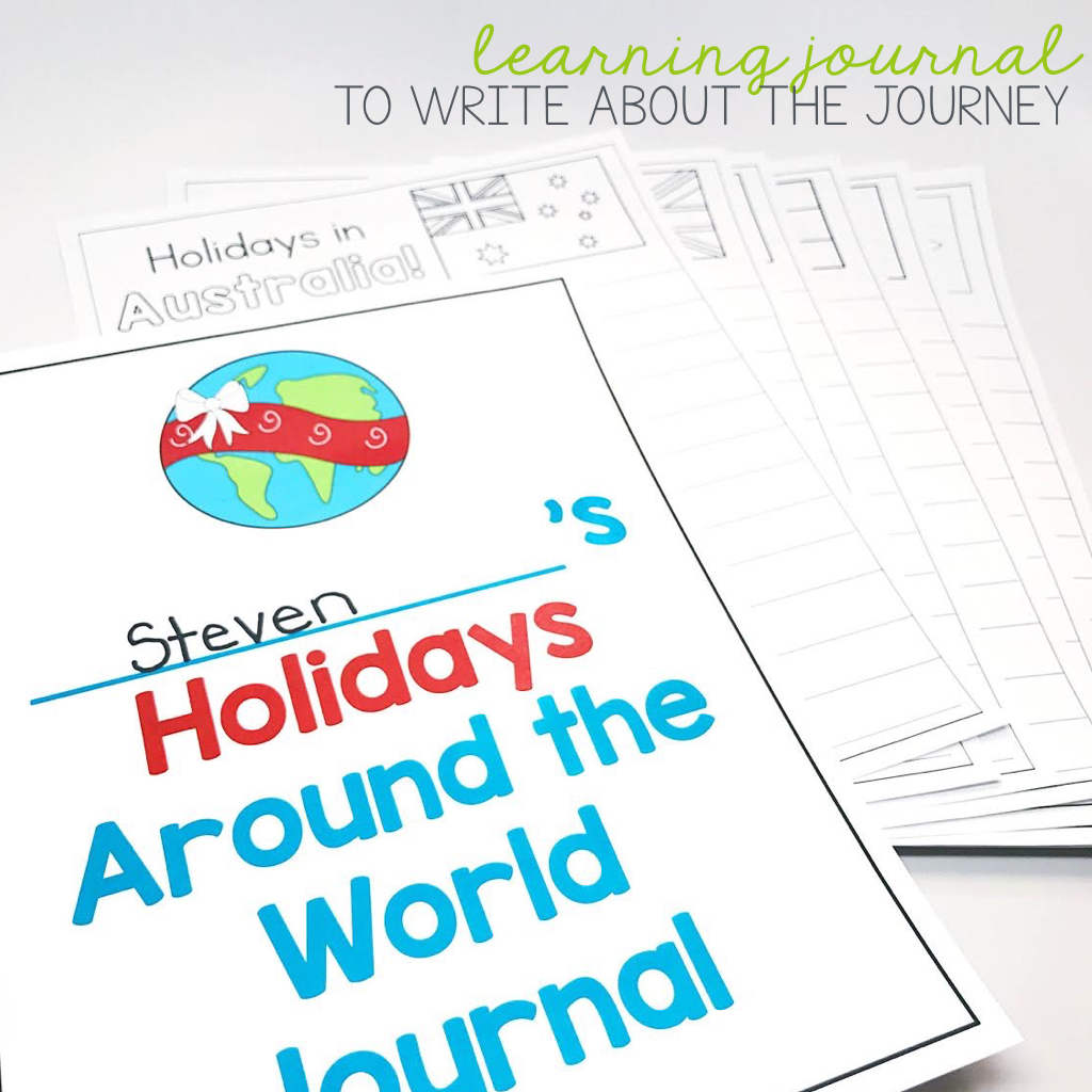 Holiday's Around the World Journal to accompany travels and learning!
