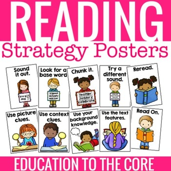 Reading Strategy Posters that are useful to both teachers and students.