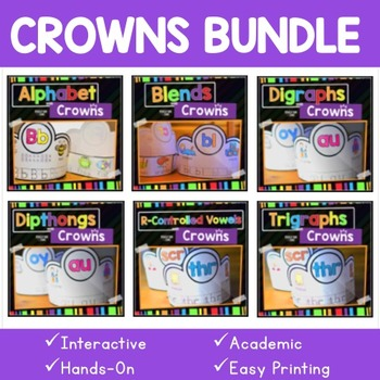 Crowns Bundle - Phonics Resources to improve your students' reading skills.