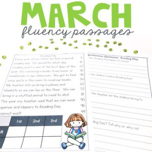 1st Grade Fluency Passages for March