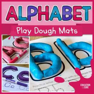 """writing"" letters of the alphabet in play dough"