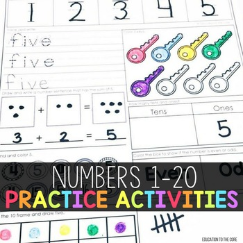 photograph about Numbers 1 20 Printable called Creating Figures 1-20 Worksheets
