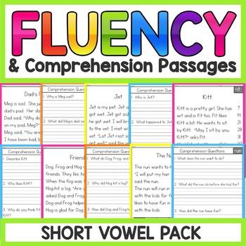 Short Vowels Fluency Passages | Short Vowels Worksheets ...