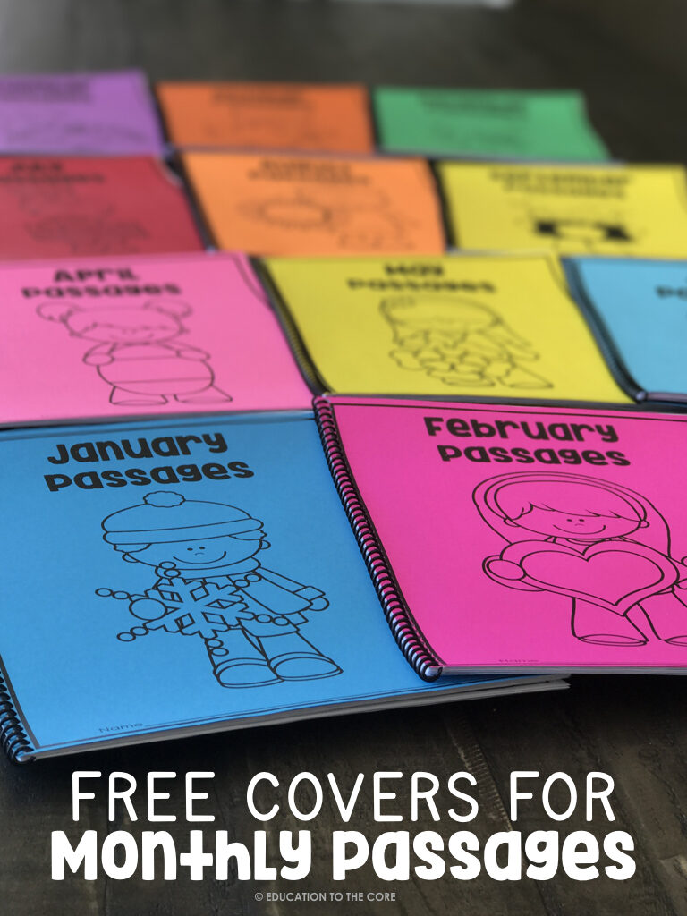Free Covers for Fluency Passages