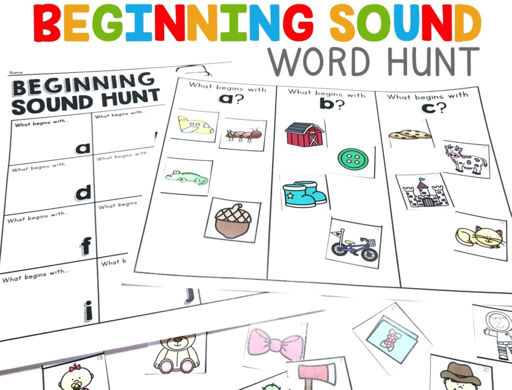 Students will be able to practice their knowledge of one-to-one letter-sound correspondences by saying the sounds of each object, and placing it under it's corresponding letter.  They will then write the words they matched up on the accountability sheet.