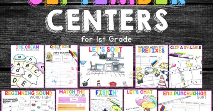 September Centers for First Grade
