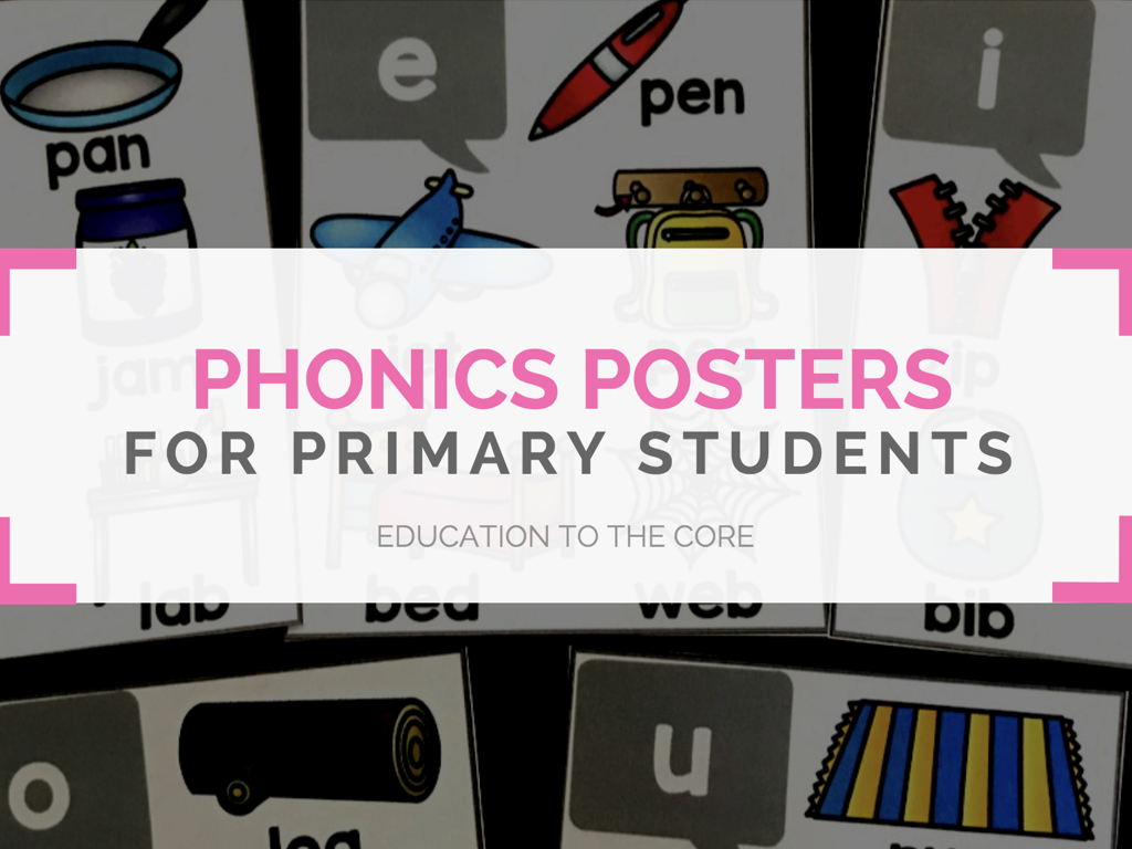 Phonics Posters for Primary Students