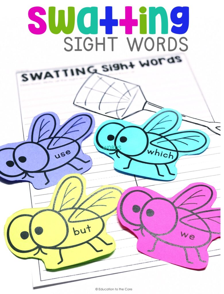 Students will read common high-frequency words by sight by swatting sight words 31-60.