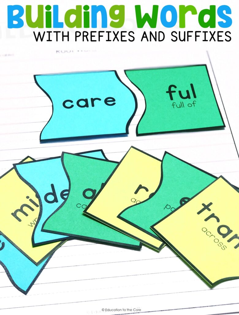 Students will identify frequently occurring root words by creating new words by adding prefixes and suffixes.