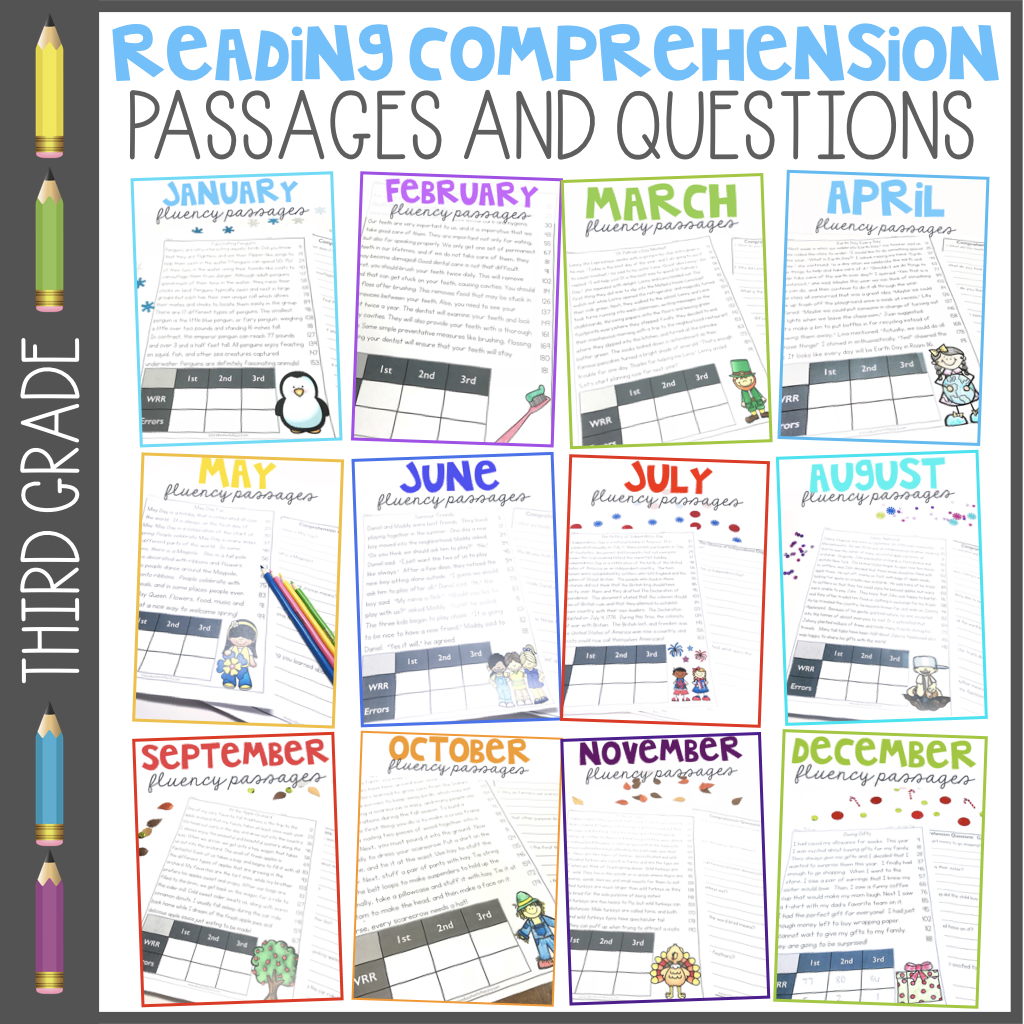 Third Grade Monthly Fluency Passages