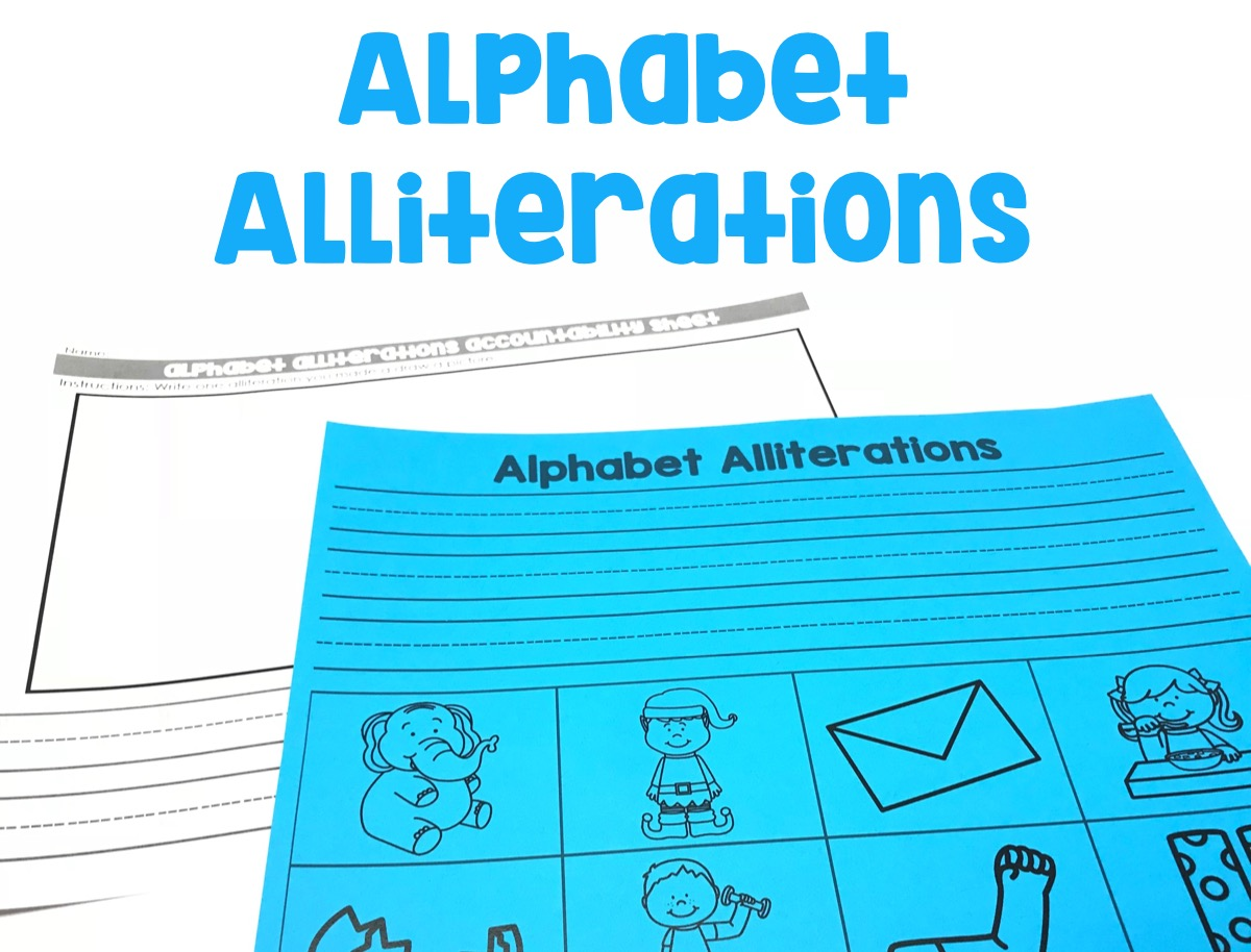 Students will use words from the mat to make an alliteration.