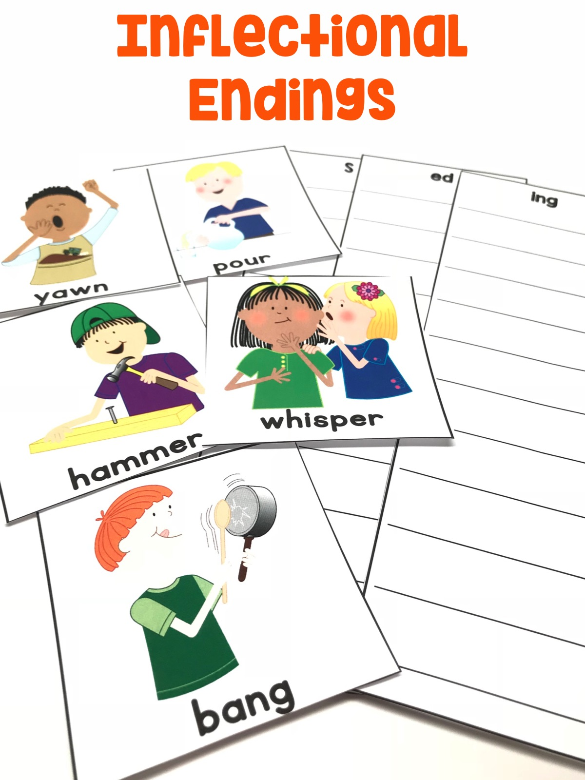 Students will change words using inflectional endings.