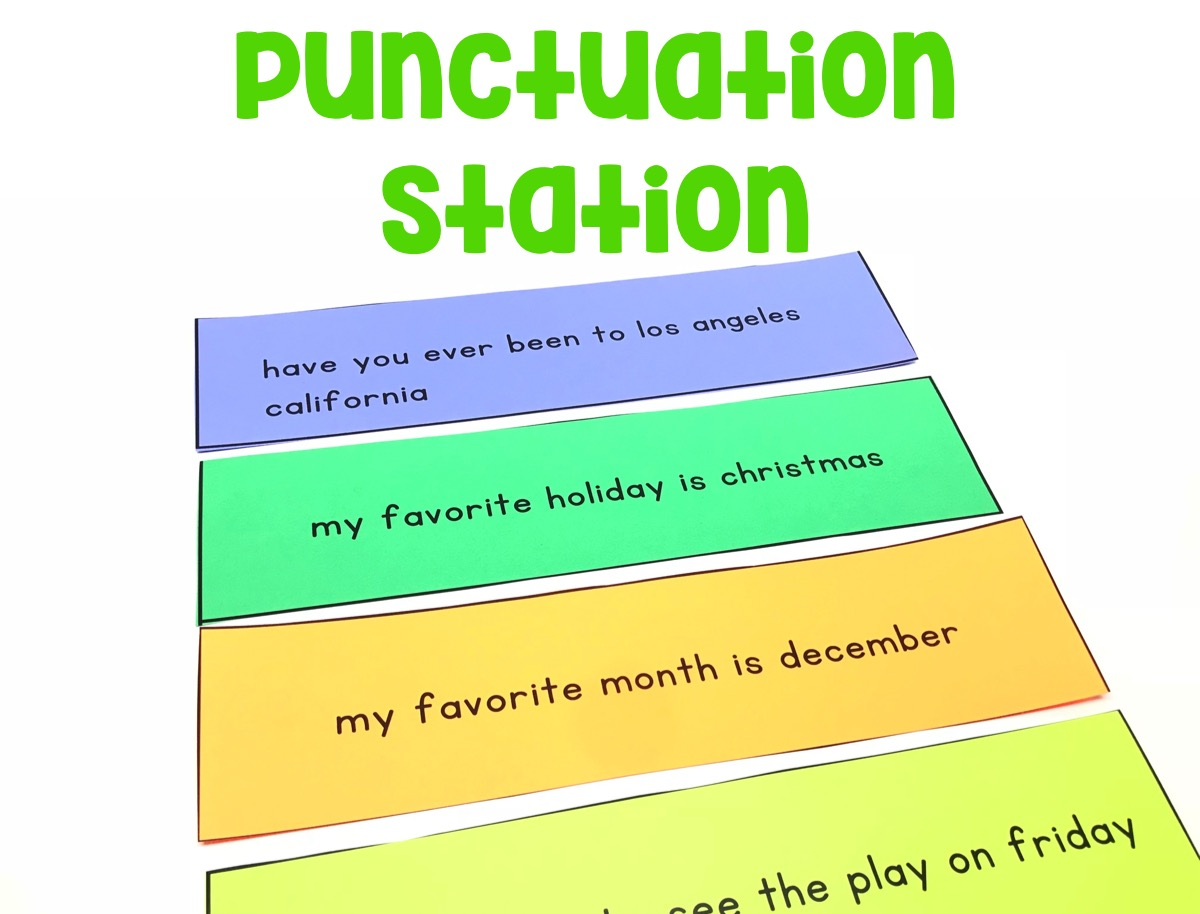 Students will command of the conventions of standard English capitalization, punctuation, and spelling when using the sentences provided.