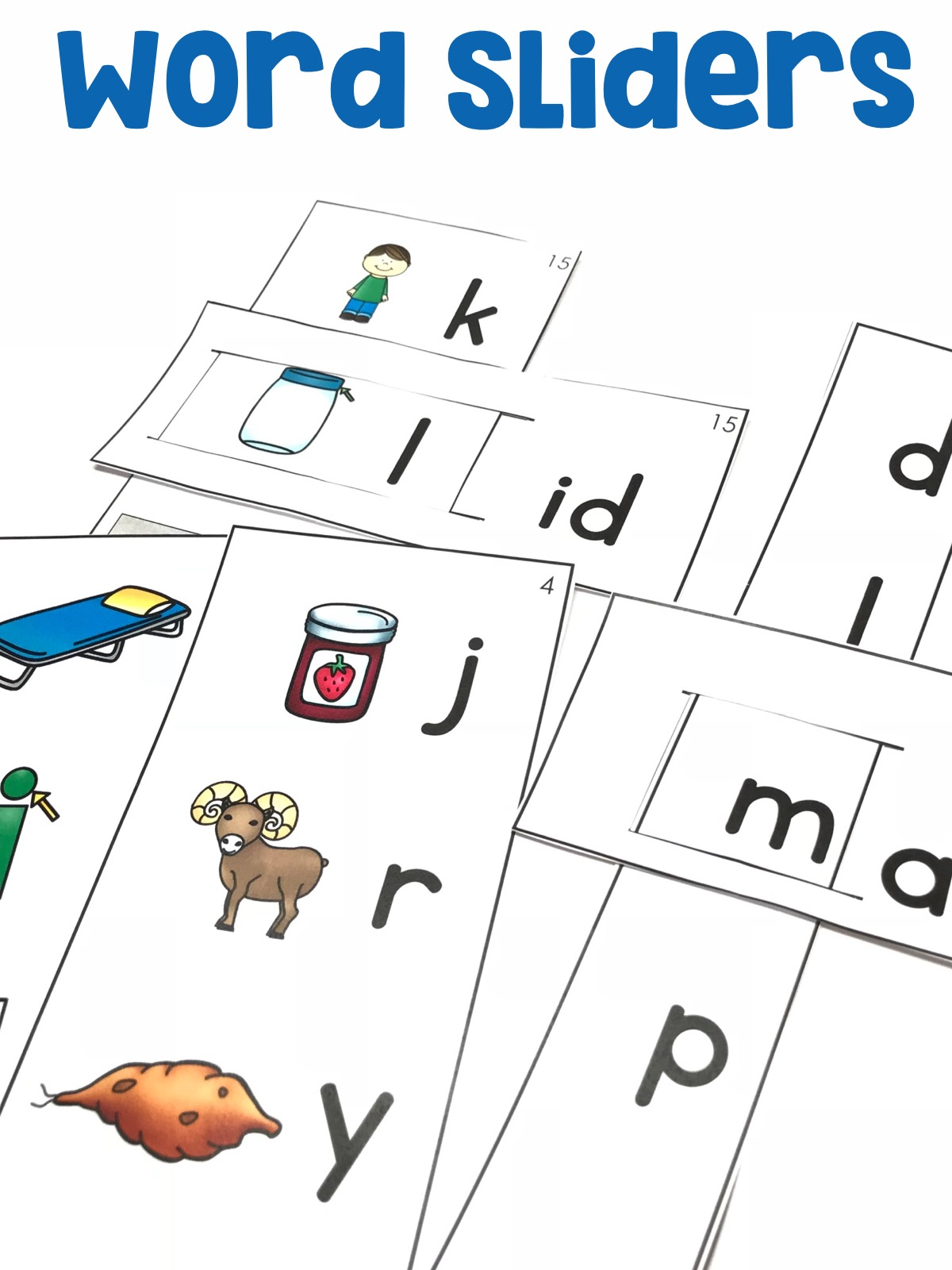 Students will add or substitute individual sounds (phonemes) in simple, one-syllable words to make new words using the word sliders.
