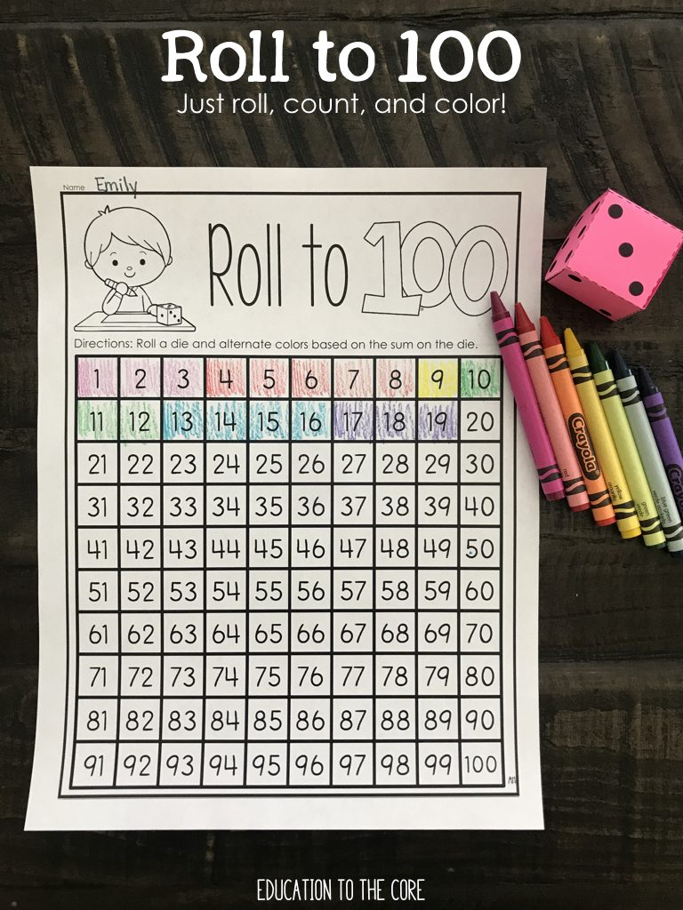 Roll to 100 Game