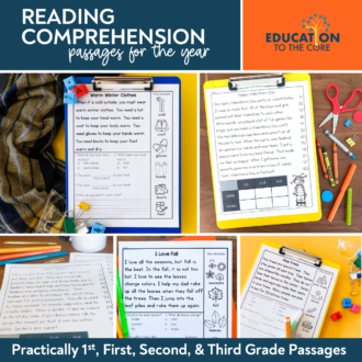Practically 1st, 1st, 2nd, and 3rd Grade Reading Comprehension Passages
