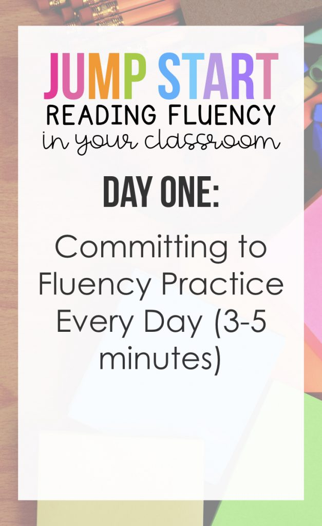 Day 1:  Committing fluency practice everyday