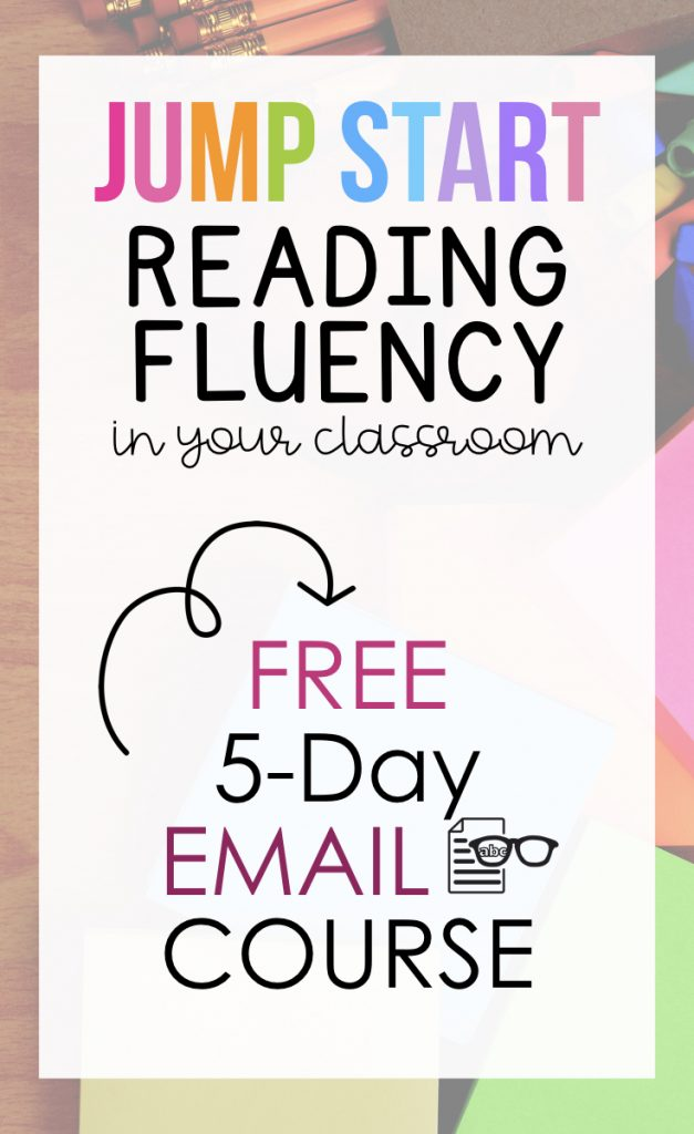Jump Start Your Reading Fluency FREE 5-Day Email Course
