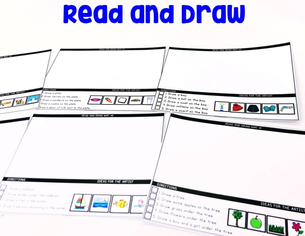 Read and Draw: Your students will love reading the prompts and drawing a picture on the mats. We didn't leave one detail out, as these Read and Draw Mats even come with picture prompts.