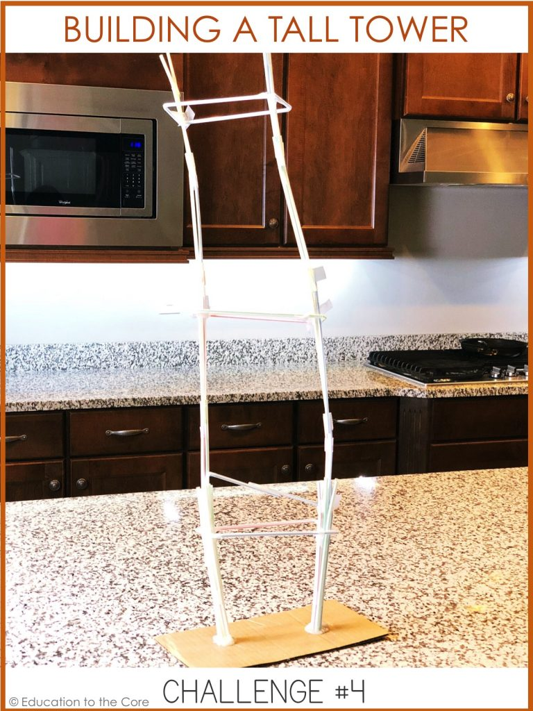 How tall can you build a tower using only straws and tape? Make sure you measure it to find out!