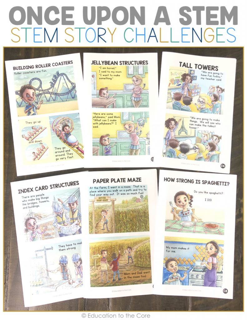 Once Upon a STEM: Stem Story Challenges from Education to the Core