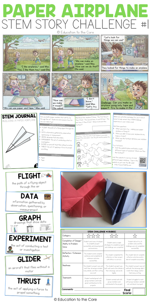 FREE Paper Airplanes Stem Story Challenge