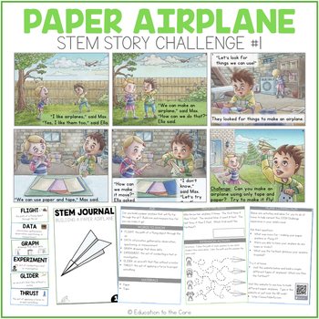 Once Upon a Stem Freebie - Paper Airplanes