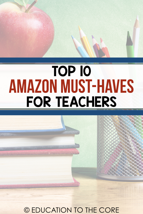 Amazon has come to my rescue more than once when a great idea comes to mind! When it comes to the classroom, Amazon is my go-to to get everything that we need to complete us! I compiled a list of my Amazon MUST-HAVES that every teacher needs!
