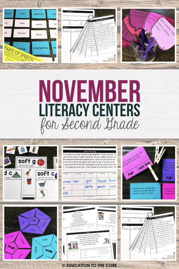 2nd Grade Literacy Centers for the Year! Over 120 centers in speaking & listening, language, reading foundations, reading literacy, and writing!