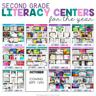 2nd Grade Literacy Centers for the Year