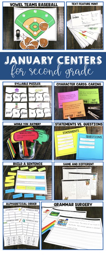 2nd Grade Literacy Centers For January Education To The Core