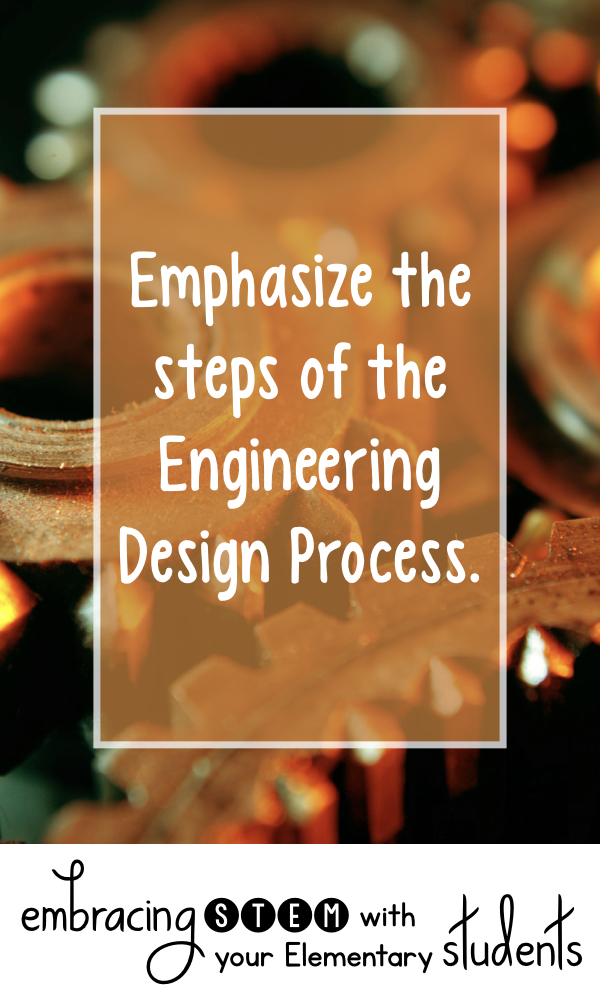 Emphasize the steps of the Engineering Design Process