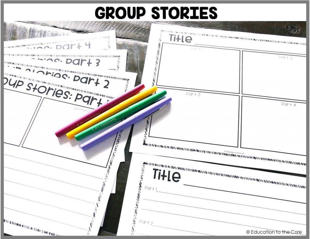 Group Stories: Students will be working in collaboration to write and illustrate a story together.