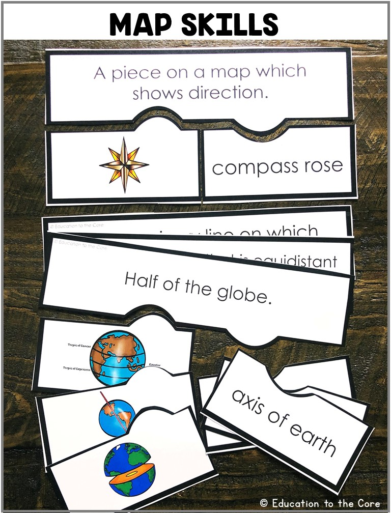 Map Skills: Students will be matching the map vocabulary with the picture and definition by completing the puzzles.