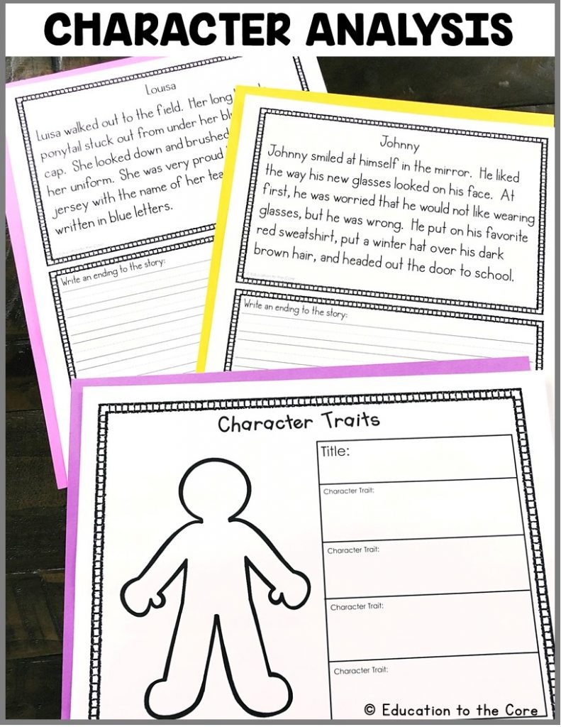 Character Analysis: Students will be reading several stories about characters and analyzing their character traits using either of the two graphic organizers provided.