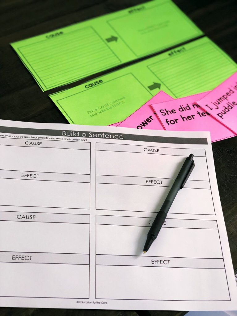 The other thing that you will have in every center is an accountability/recording sheet.  These are KEY, because you now have something to gather data and record a grade for EVERY student.  You can keep track of what they did all week by glancing at their work.  You can gain insightful information such as, which students are getting the concept,  which students need to be pushed more, and which students are or are not on task.