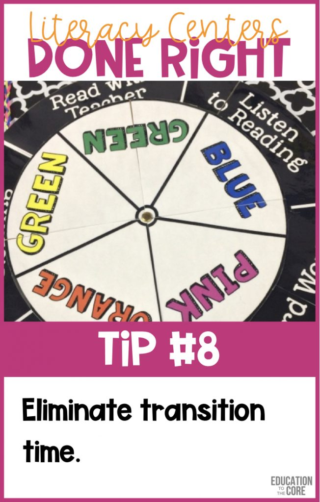 Eliminate transition time.