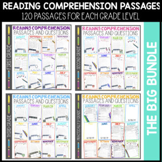 First and Second Grade Literacy Centers Bundle