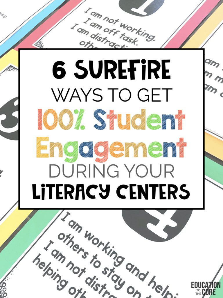 It can be done, but it does take time for things to come into place.You CAN achieve 100% engagement when students are working in their centers, but persistence and patience are going to be key.So here are the steps to get 100% engagement during your centers.