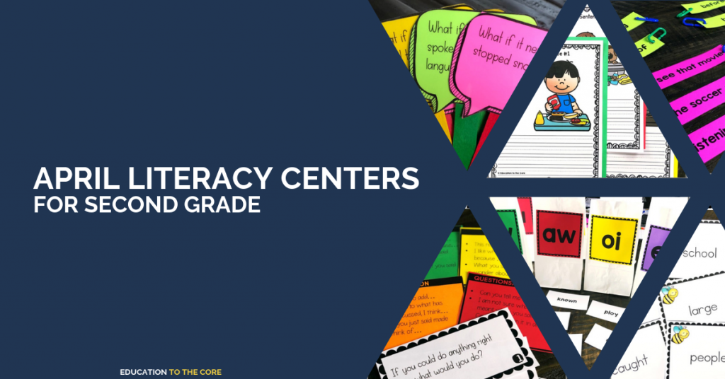 Just wanted to give you a rundown of the April component of our 2nd Grade Literacy Centers Bundle! We are so proud of this month's centers and we can't wait for you to get started with using them!