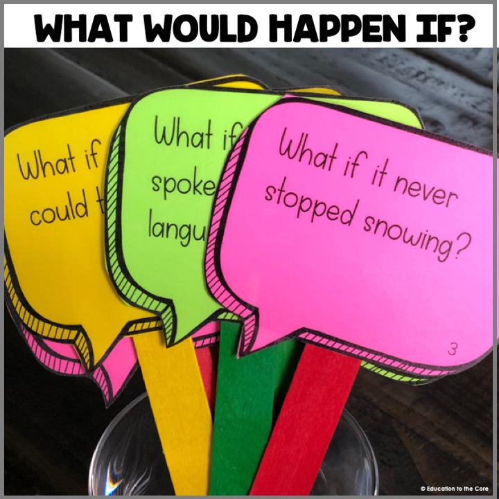 What Would Happen If? These discussion cards are great for starting great conversations between the students of your class.