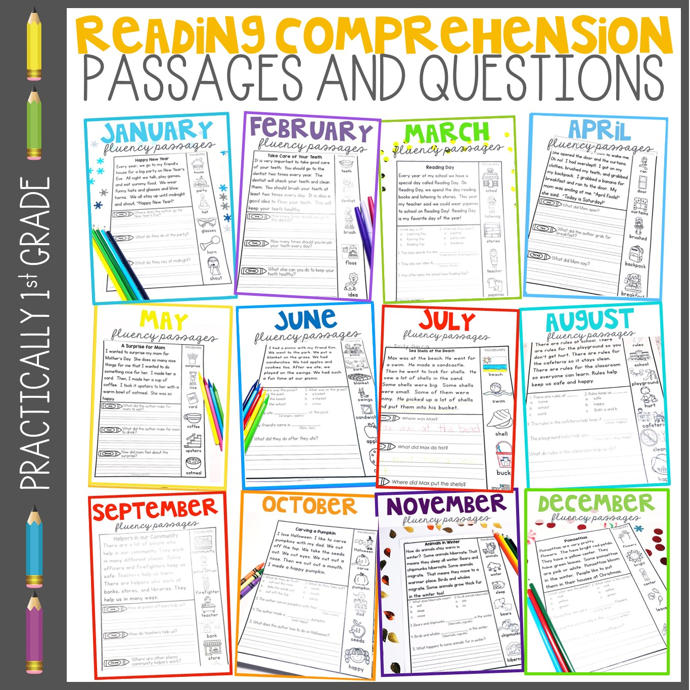 - 1st, 2nd, And 3rd Grade Reading Comprehension Passages Education