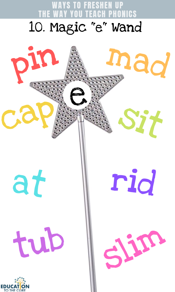"Phonics Teaching Tips: Magic ""E"" Wand"