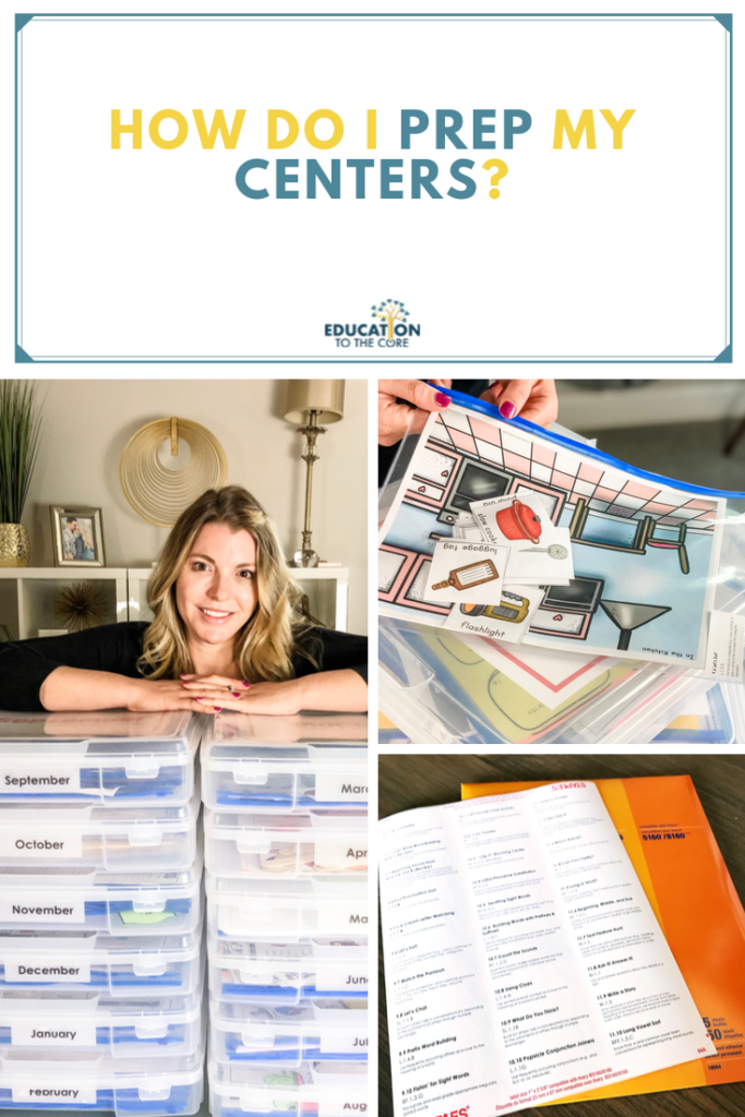 Implementing Literacy Centers - How do I prep my centers?